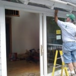 Sliding glass door installation - Rockport, Maine - New Leaf Construction