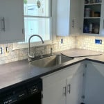 New kitchen counter top installation - Midcoast Maine - New Leaf Construction