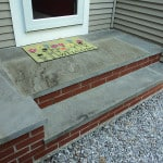 New front step building - Midcoast Maine