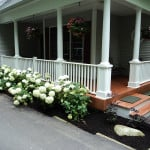 New porch with PVC columns - Midcoast Maine Builder New Leaf Construction