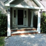 Newly designed and built porch in Camden, Maine