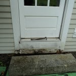 Rot from stone step repair - Camden, Maine