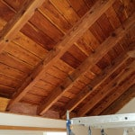 Sanded and hand oiled ceiling - New Leaf Construction - Rockport, Maine