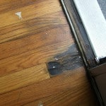 Rot surfacing from below wood flooring - Camden Maine